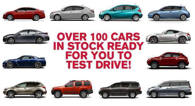 Over 100 cars in stock ready for you to test drive!